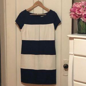 Banana Republic Navy and White Stripe Dress